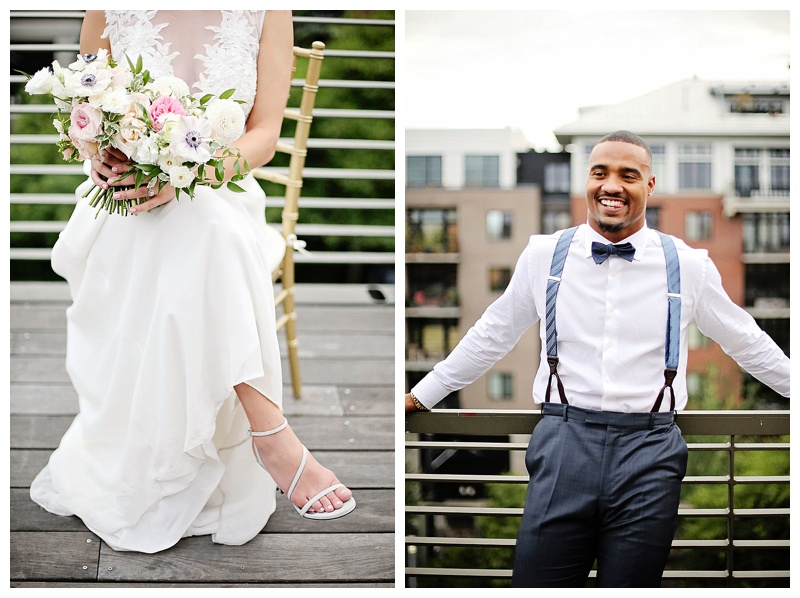 Portland Oregon Wedding Flowers Bride Groom