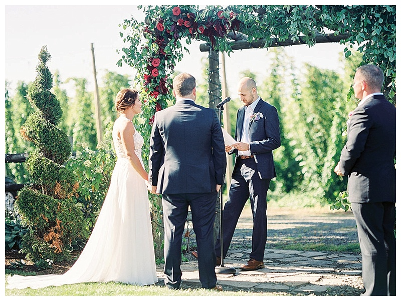 Wedding Florist Oregon Ceremony Alter