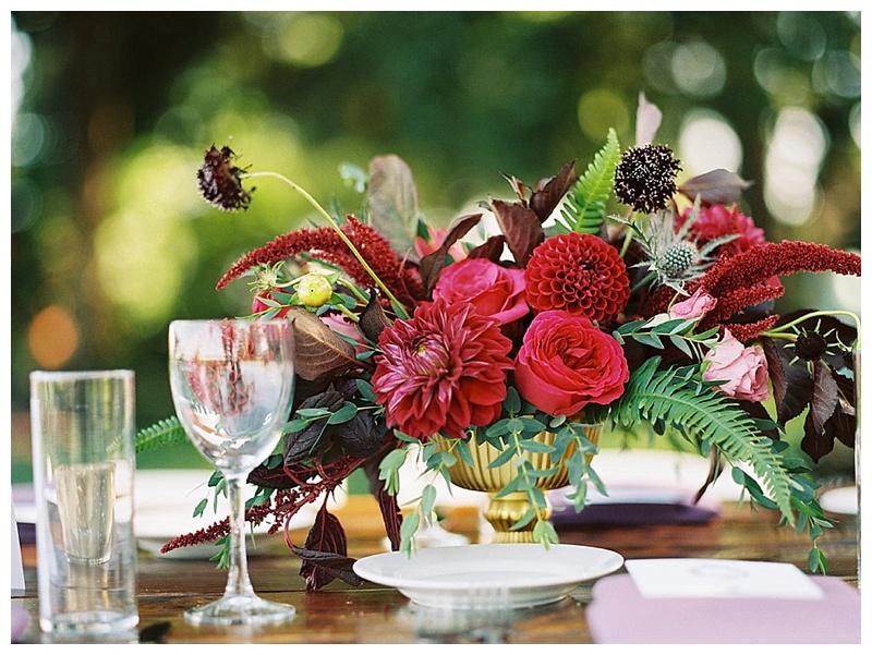 Oregon Wedding Florist Wilmes Hop Farm Tablesetting