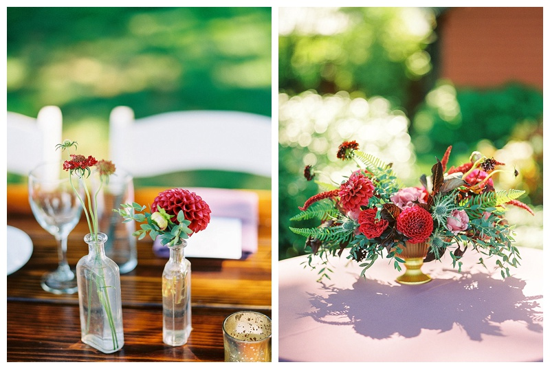 Wedding Florals Oregon Table Details