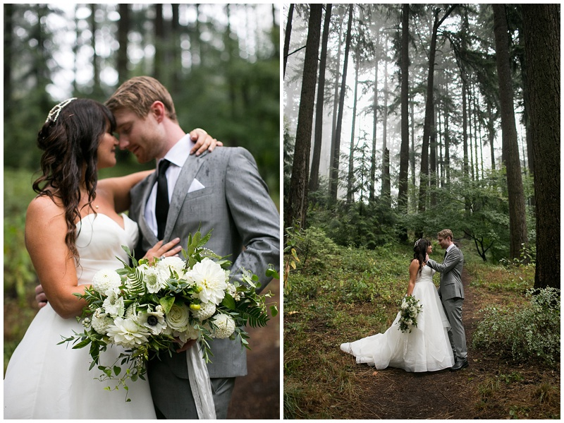 Portland wedding florist bride and groom