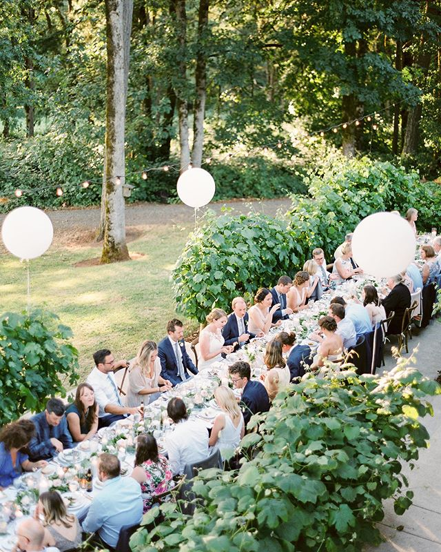 Can this be my backyard, please?! 🙌🏼 One of our all time favorite Oregon venues! . . Photo @sweetlifephoto.jake  Venue @eventsdebroglie  Coordination @yourperfectbridesmaid  Catering @pearlcateringpdx  Floral @swoon_floraldesign