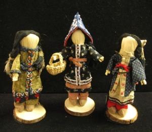 Anne's first three 18th century Abenaki dressed cornhusk dolls - MKIM giftshop.jpg