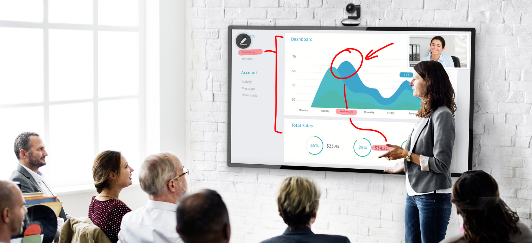 Enhance Your Experience with Touch Screens - Power up your team with Zoom meetings on collaborative touch screens featuring screen sharing, white boarding and co-annotation - all at the tip of your fingers.