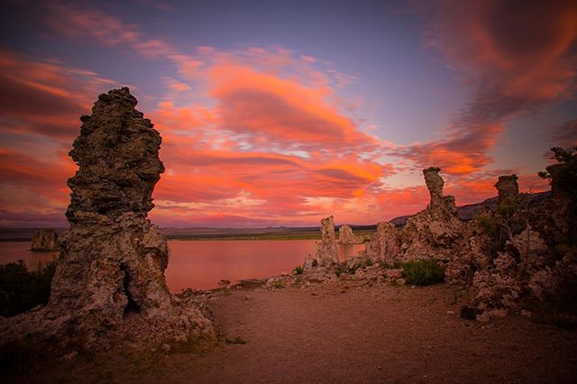 This place was so wired. #outofthisworld #ca #monolake #sunset #california #pink