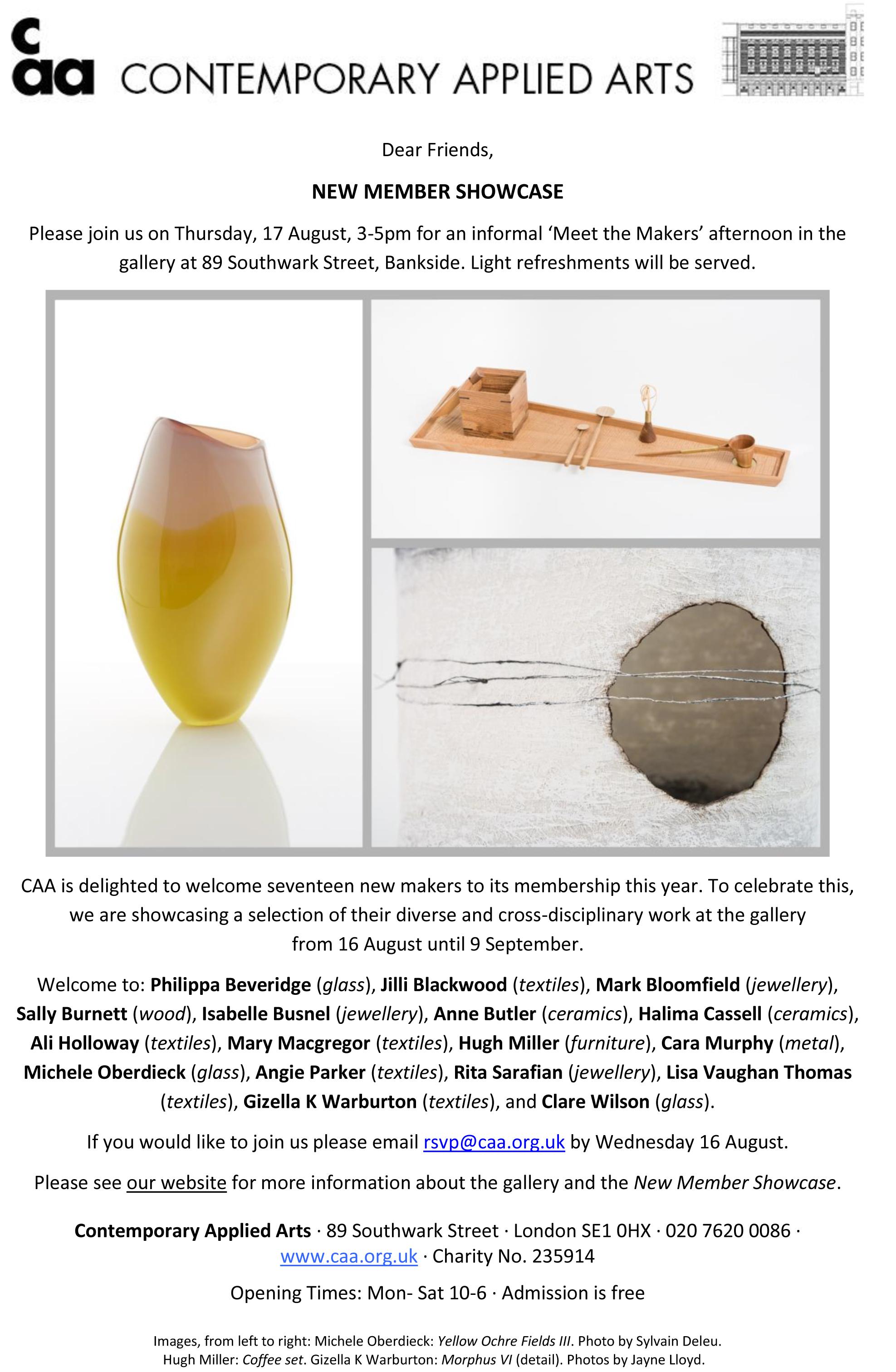 CAA Gallery - 17 August - Meet the Makers.jpg