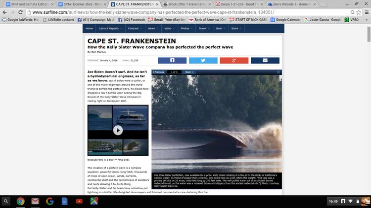 Cape Saint Frankenstein - Surfline - December 2015 - 60,000+ hits