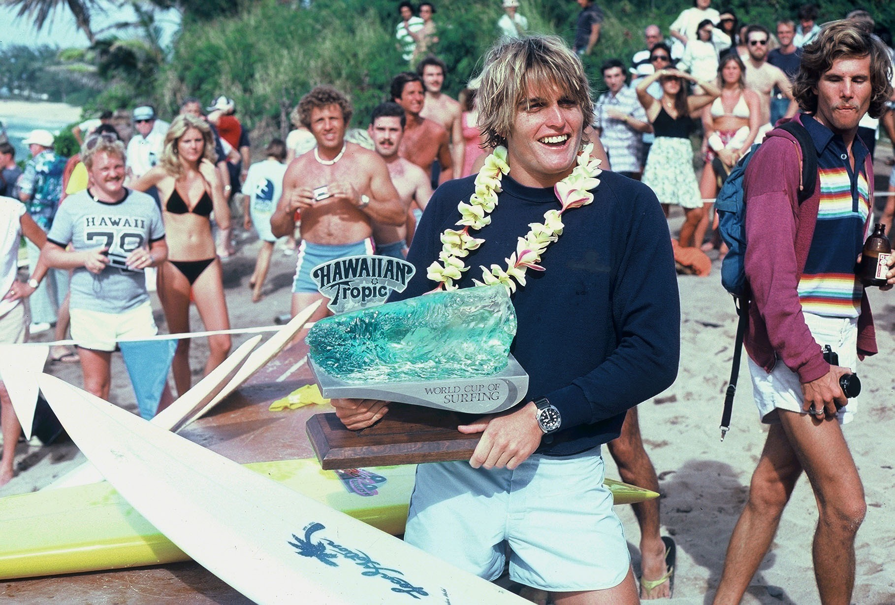 Buzzy's win in the amateur event of the 1978 World Cup propelled him into pro surfing, and the early days of the ISP.