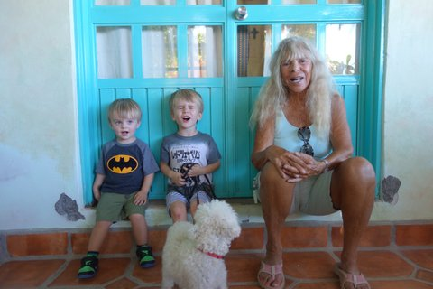 WOMEN WHO SURF - JANET WITH GRANDKIDS