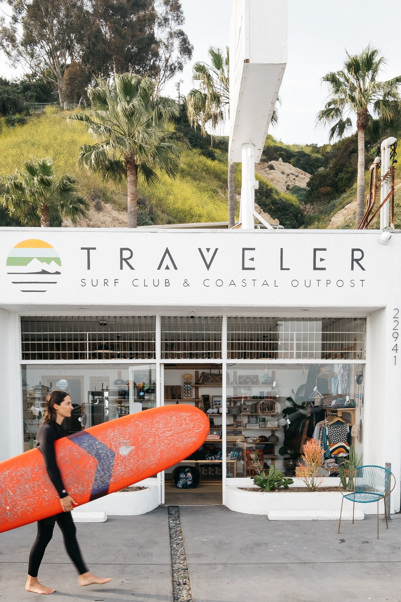 Storage, security, warm people, hot coffee, hotter showers.    Traveler Surf Club Malibu puts the hot in hospitality. Photo: Ian Zamora.