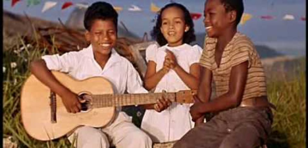 Carioca kids singing to make sure the sun will rise - from  Black Orpheus. Samba de Orfeu.  Great scene, great lighting, great dancing, great music.  Deus ex Machina  should be so great:  https://www.youtube.com/watch?v=8CxcnB16Tyk