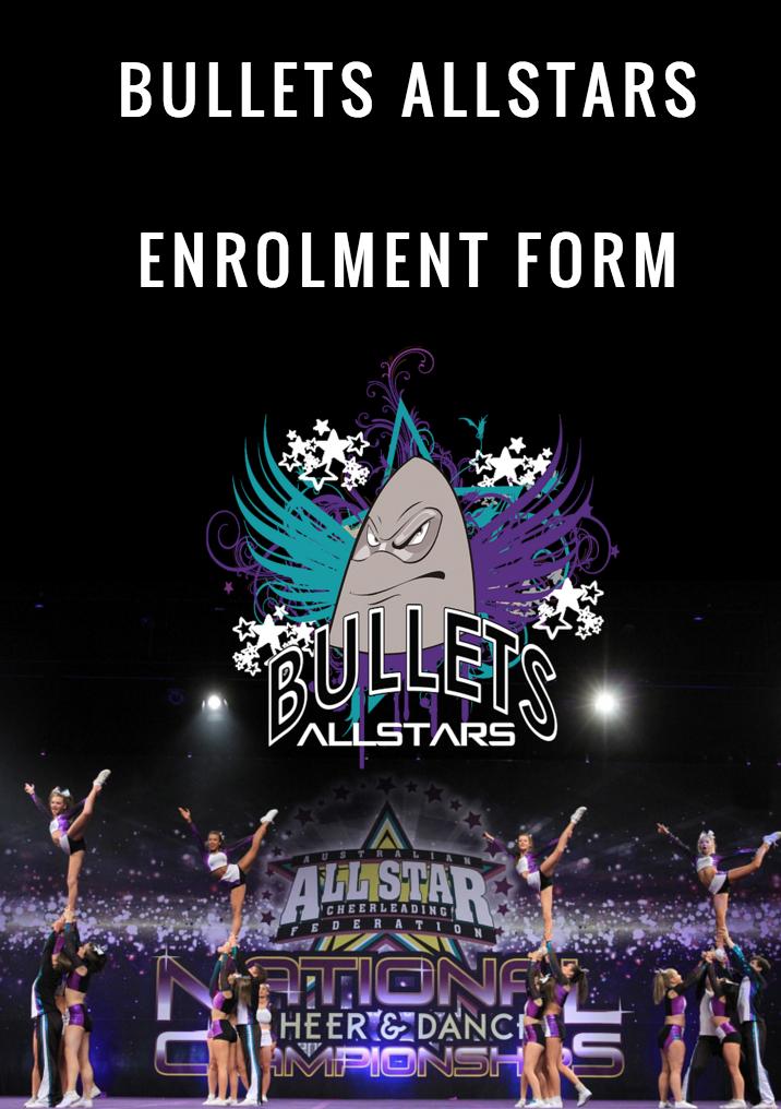 Bullets Allstars Cheerleading Melbourne Enrol online