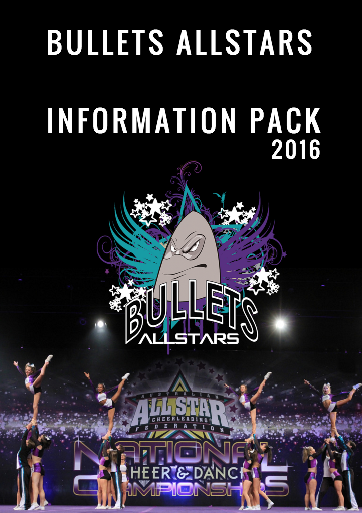 Bullets Allstars Cheerleading Melbourne Information pack 2016