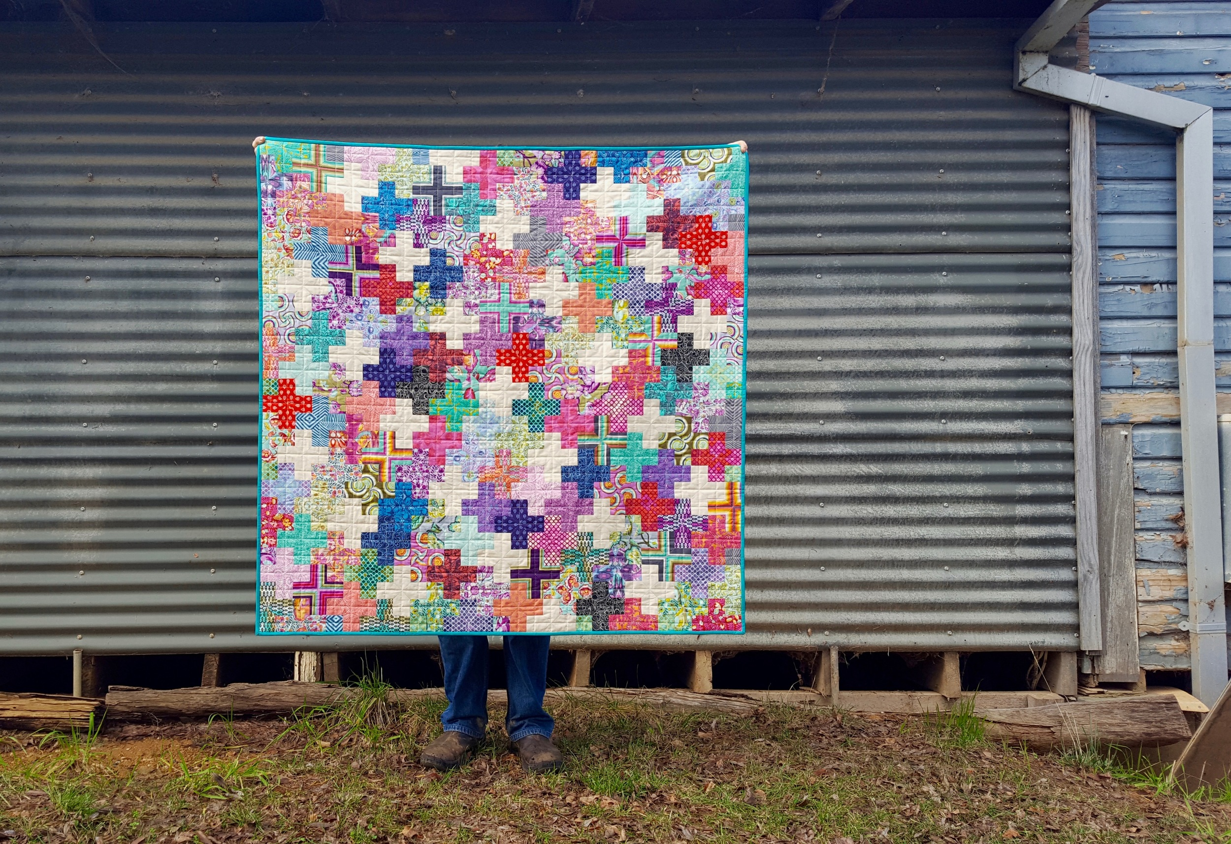 English Paper Pieced Plus Quilt