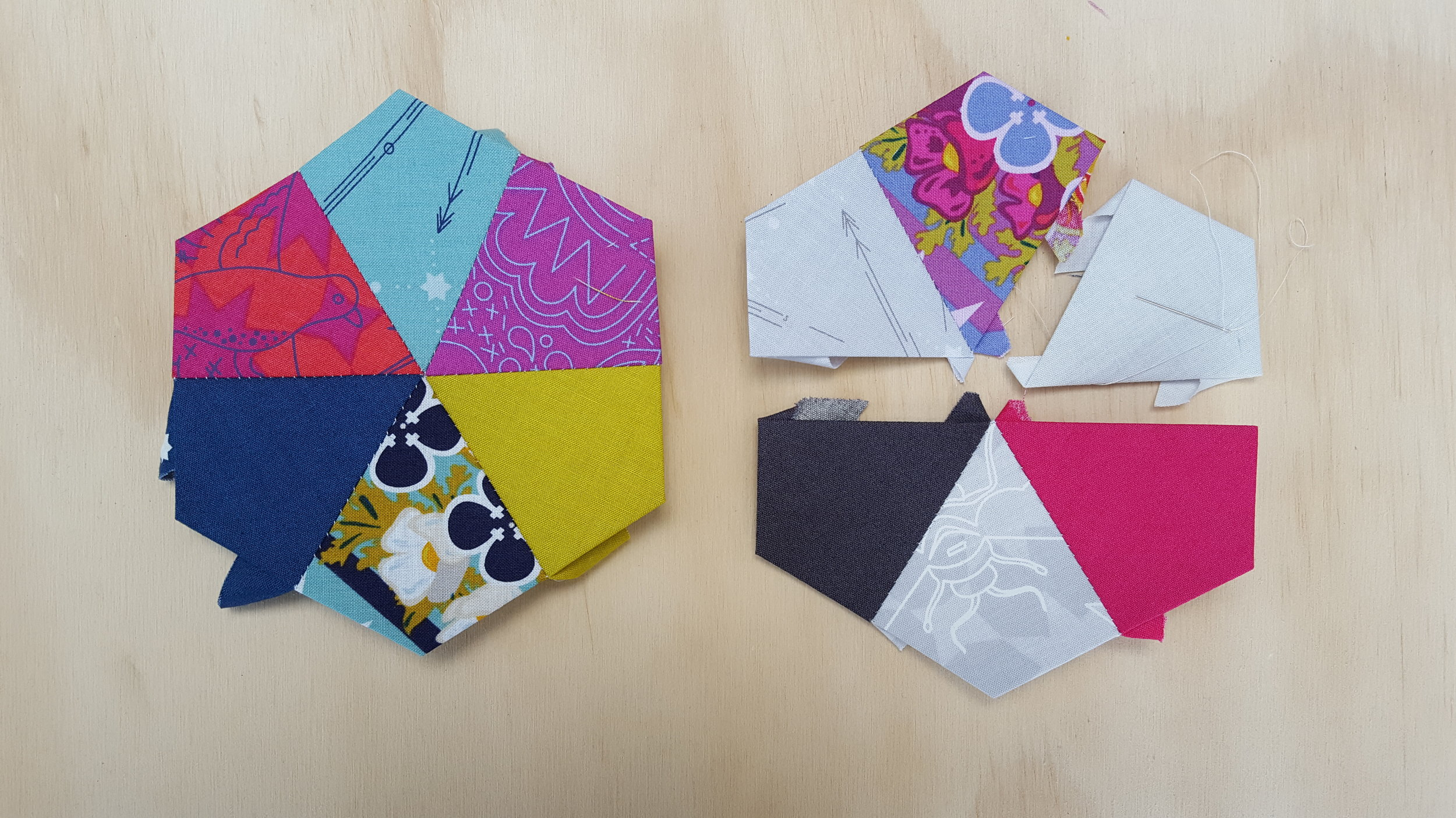 2. Coloured and Mixed Blocks