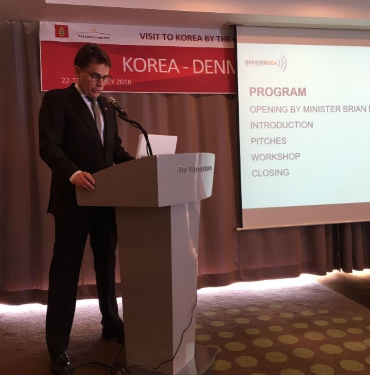 Brian Mikkelsen opening InnovationCamp in Busan, South Korea