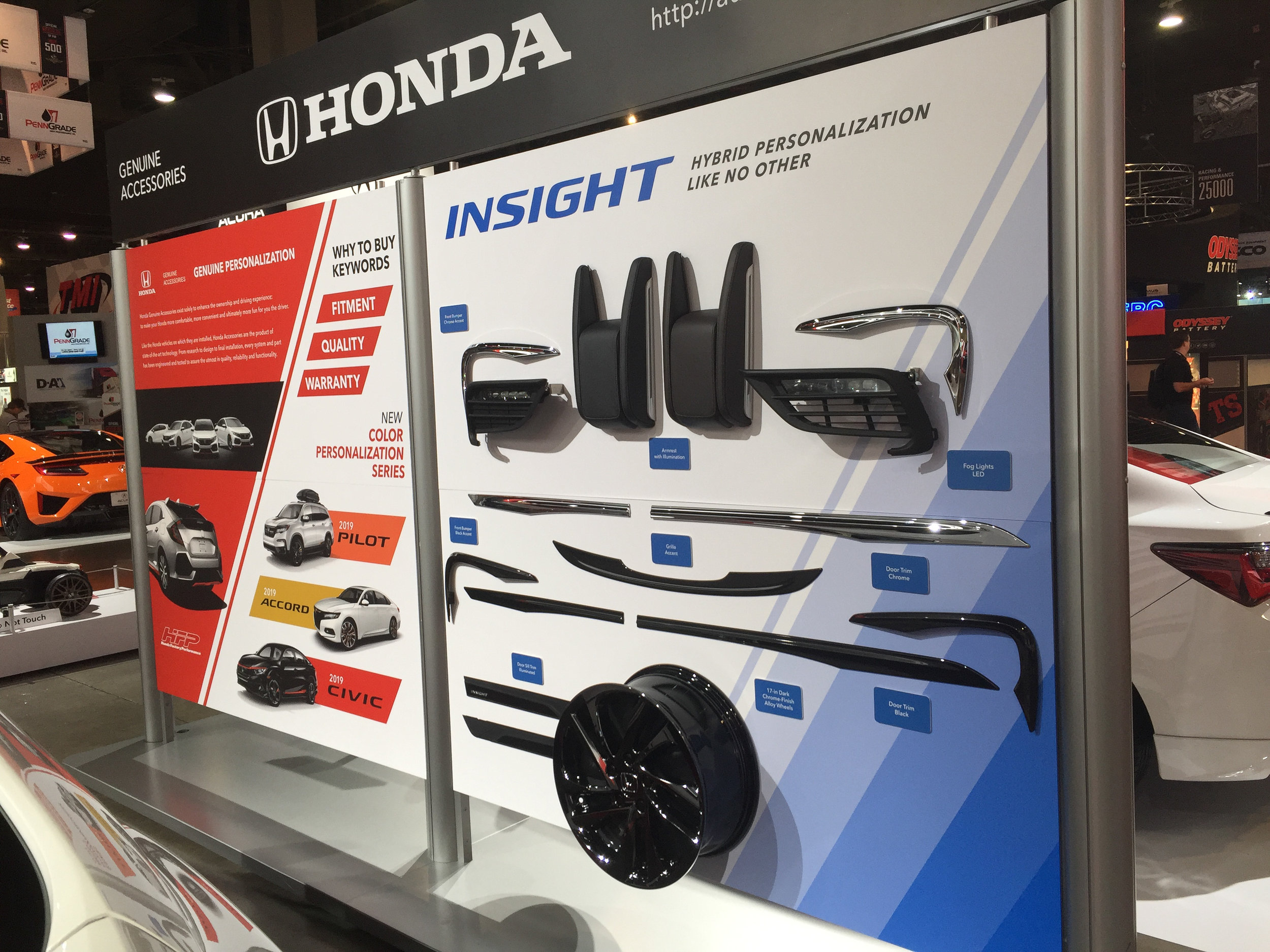 Product Accessory Display, Honda Side, Honda+Acura & GPJ, 2018