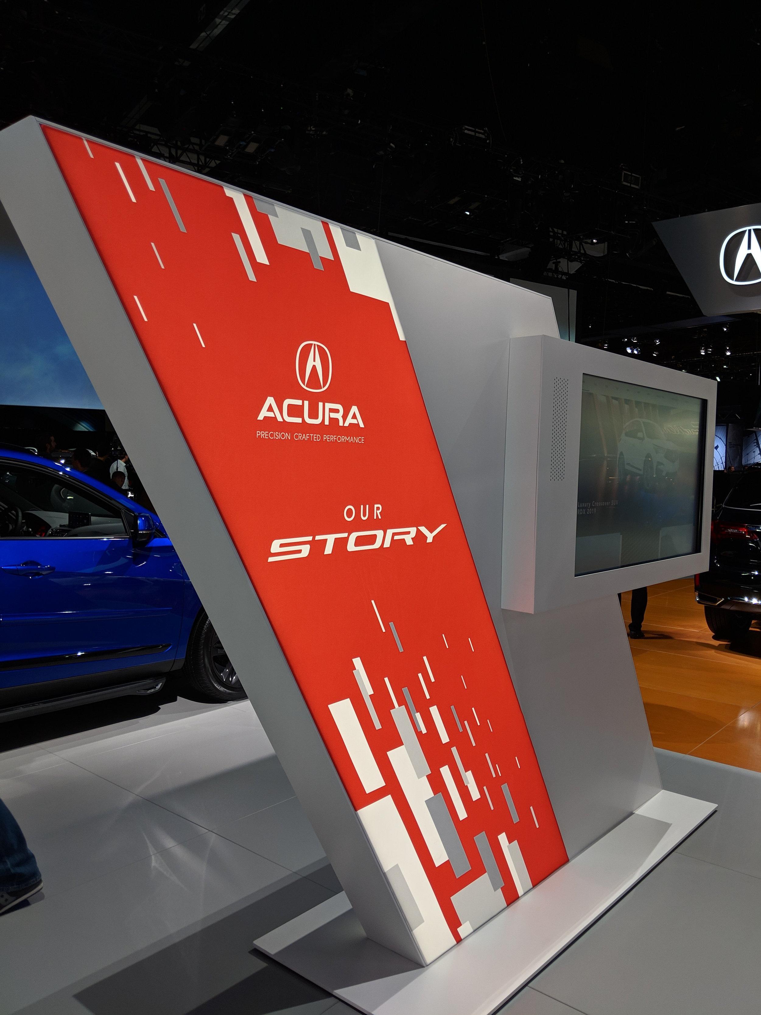 Interactive Pylon (Acura Story Side), LAIAS 2018, Acura + GPJ, 2018