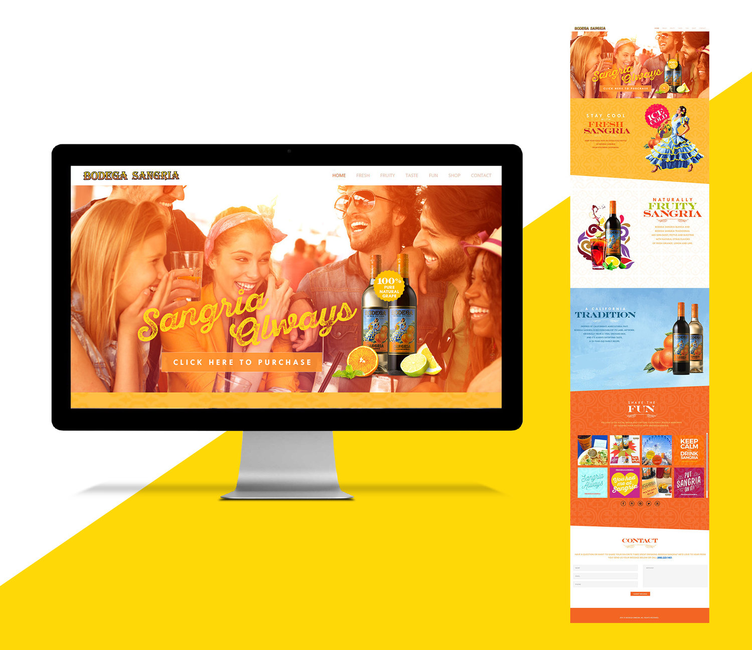 Website Design Layout, Riboli Family Wines, 2016