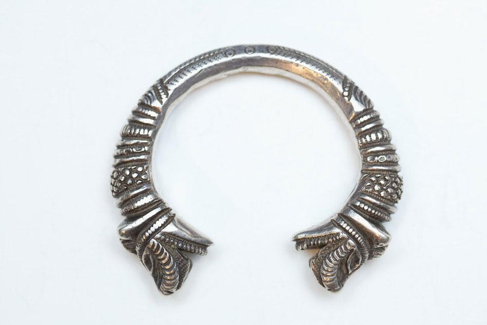 Silver bracelet, India, turn-of-the-century.