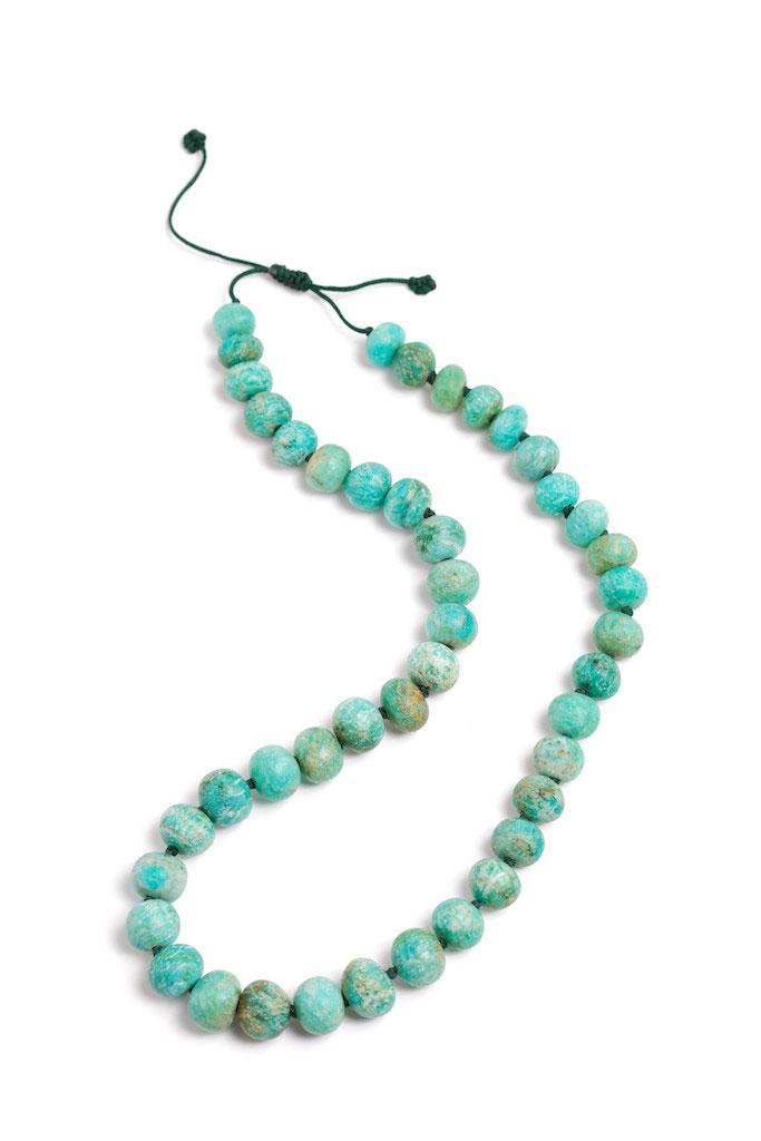 Amazonite beads, China, turn-of-the-century.