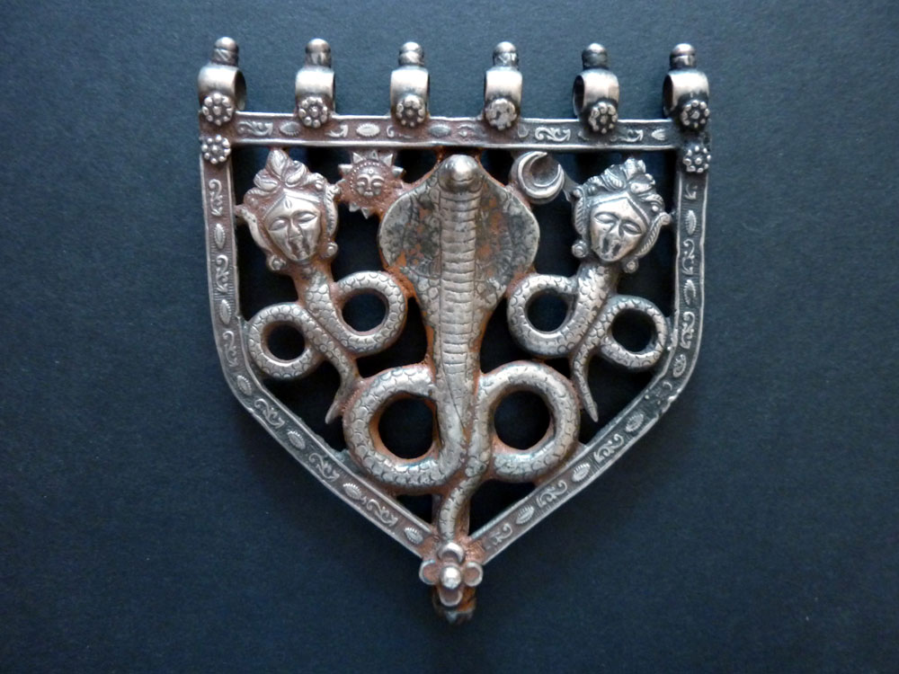 Silver pendant, South India, early 20th century.