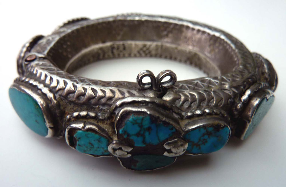 Silver and turquoise bracelet, Oman, 18th or 19th century.