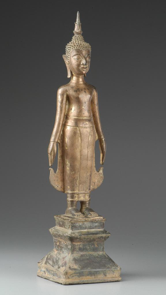 Bronze standing Buddha, Laos, 1827-1893.