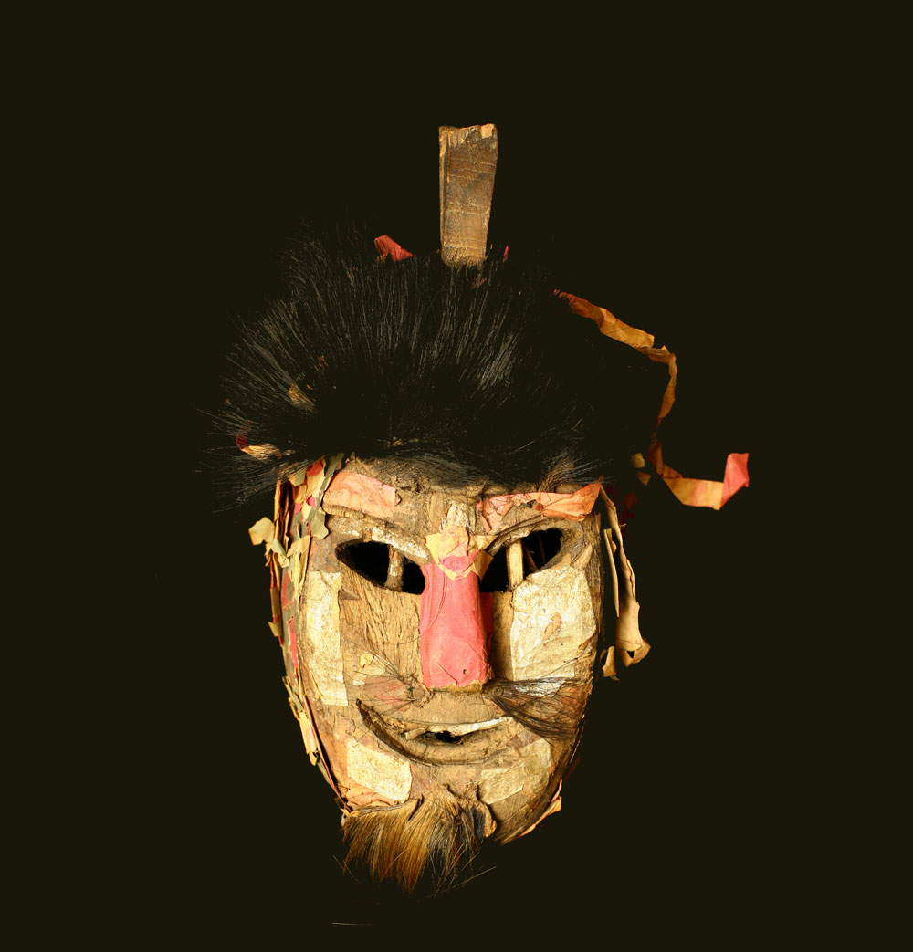 Yao priest or shaman's wood mask, China/northern Thailand or Laos, late 19th century.
