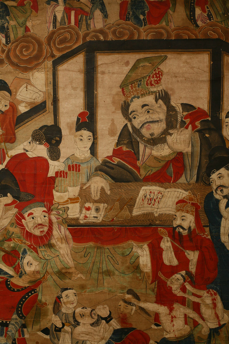 Painting, China, 19th century, detail.