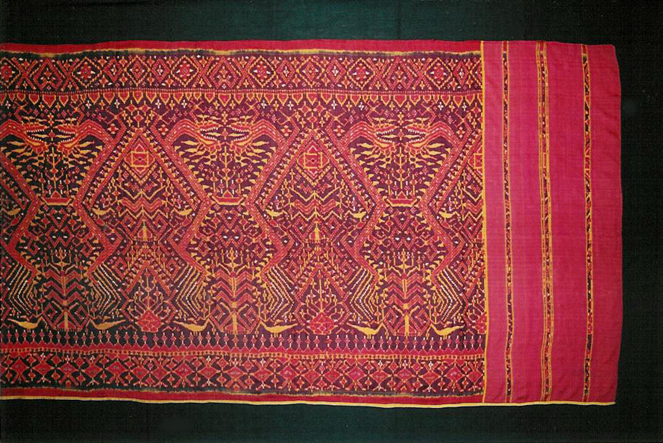 Silk ikat ship cloth, Cambodia, 19th century.