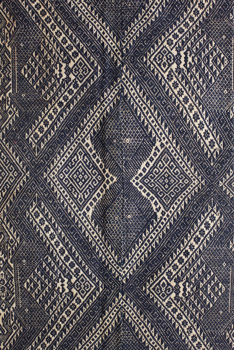 Cotton blanket or sleeping mat, border region of northern Laos and Vietnam, early 20th century, detail.