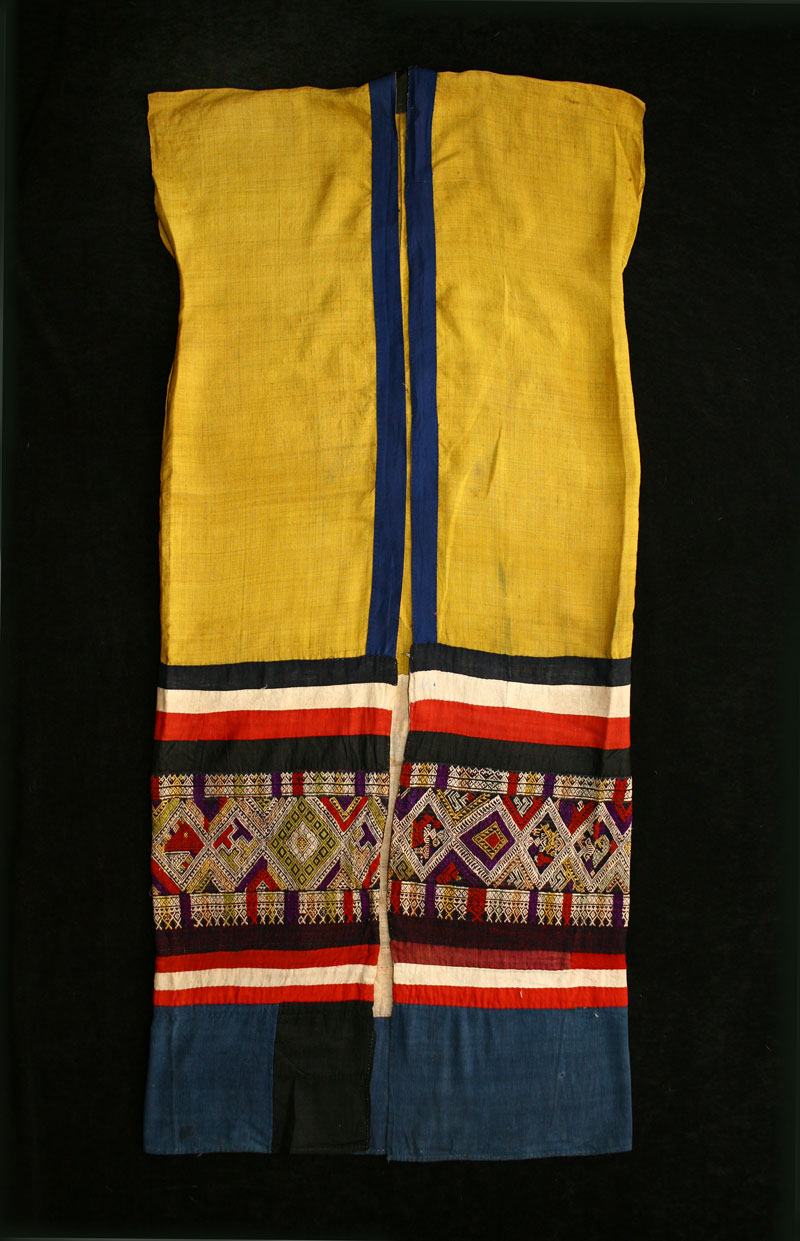 Silk and cotton funeral vestment, northern Laos, circa 1900.