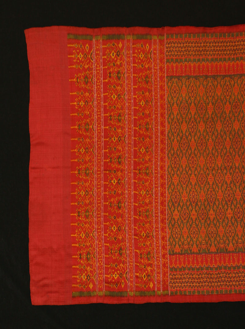 Silk ikat hipwrapper, Cambodia, late 19th century.