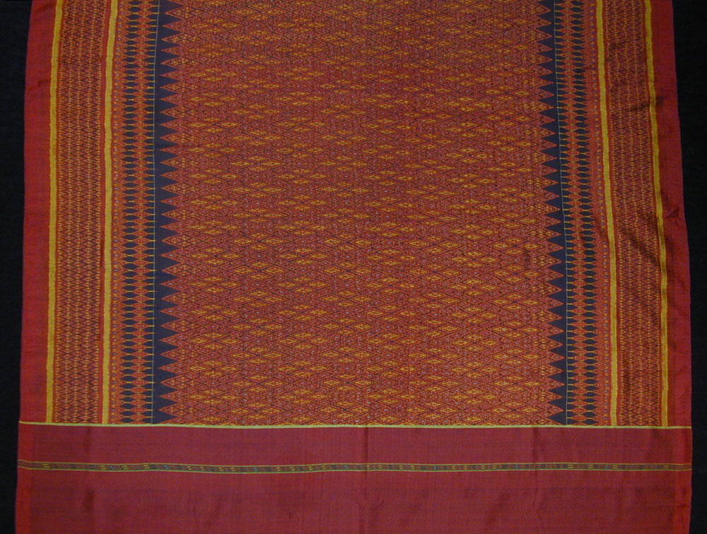 Silk ikat hip wrapper, Cambodia, circa 1900.