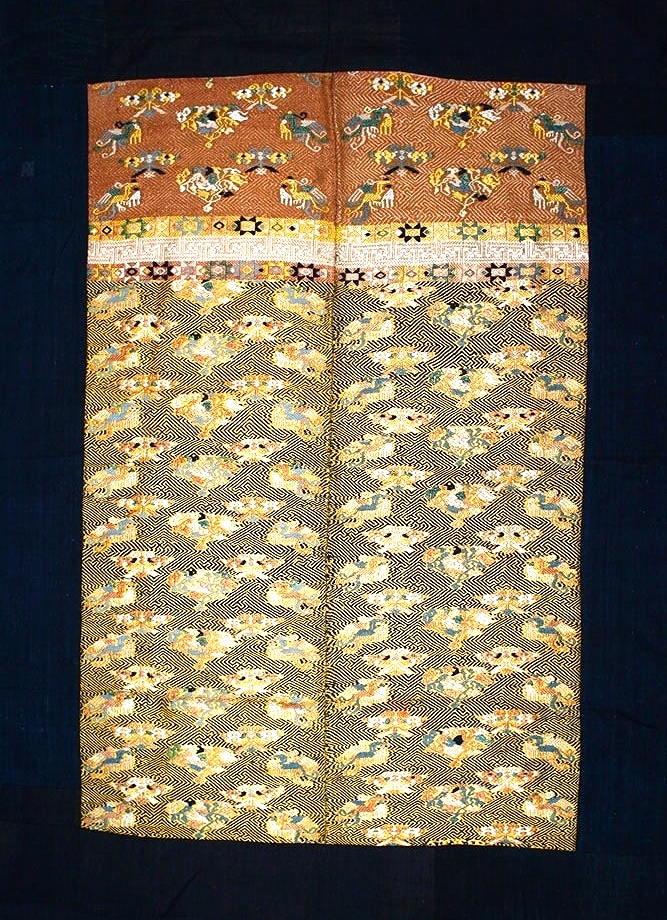 Maonan silk and cotton blanket, Guizhou or Guangxi, China, 19th century.