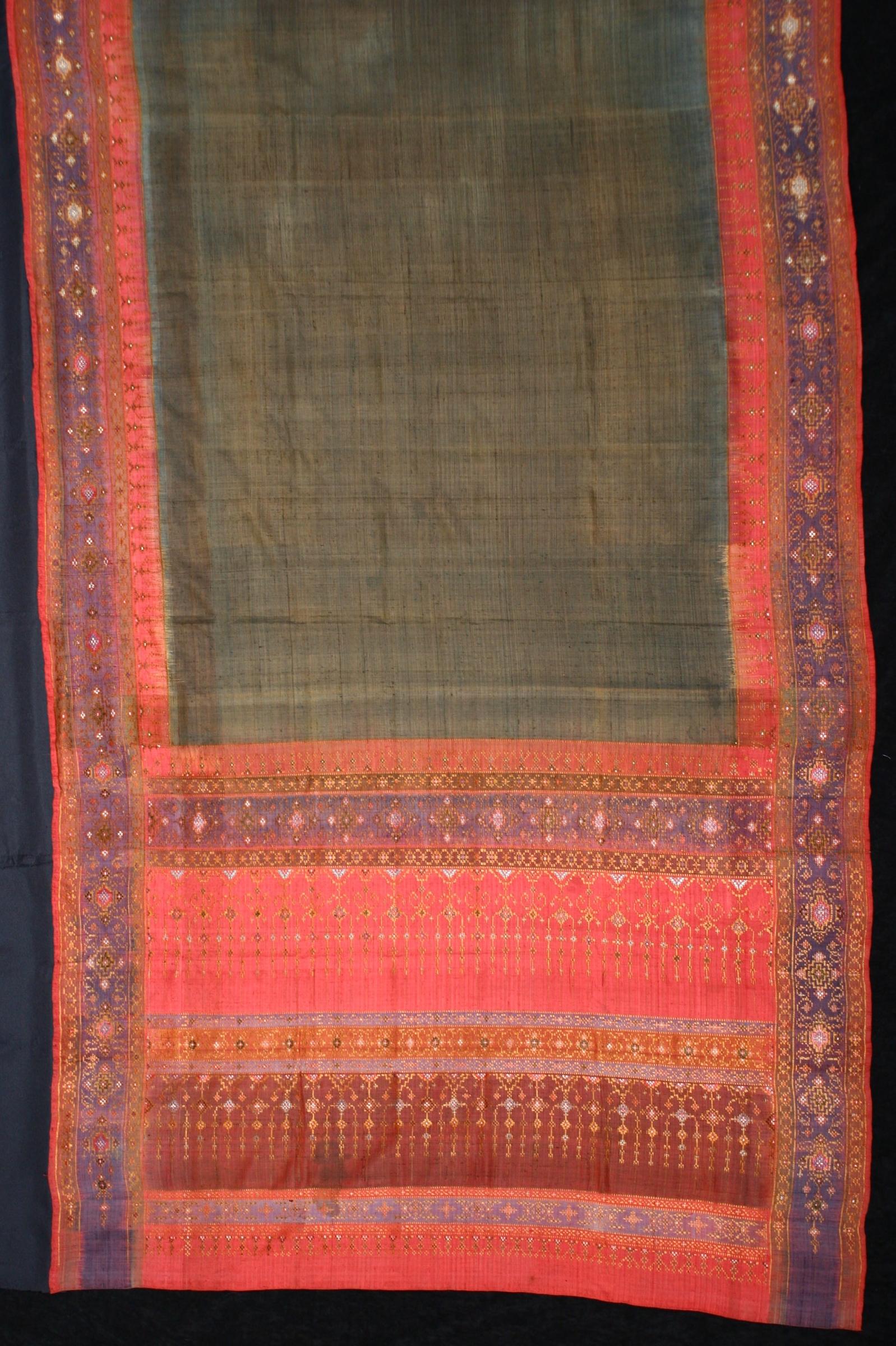 Silk hipwrapper, Nakhon Si Thammarat, Malay Peninsula, 19th century.