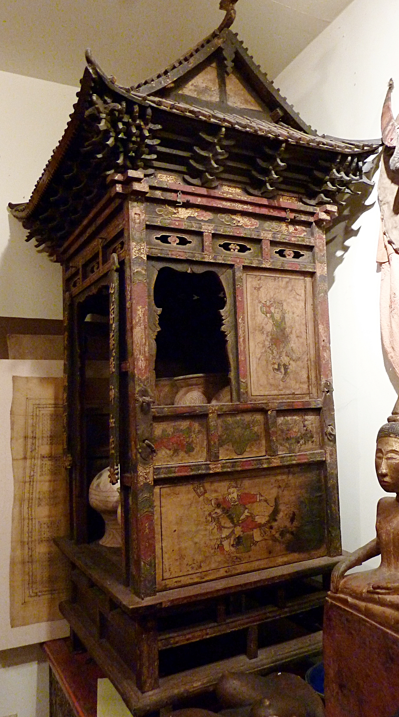 Wood altar, China, 18th or 19th century.