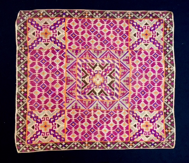 Tausug silk head cloth, pis, Sulu Islands, Philippines, early 20th century.