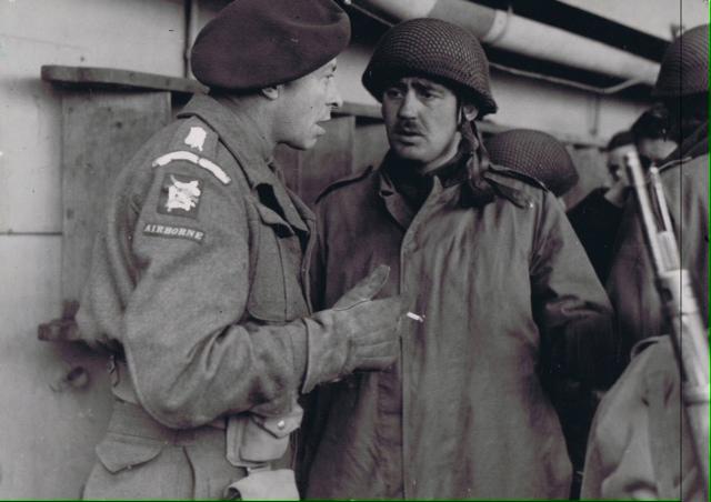 2 Para leaving Aldershot Barracks, HQ-Coy, MT Platoon, Montgomery Square April 1982.jpg