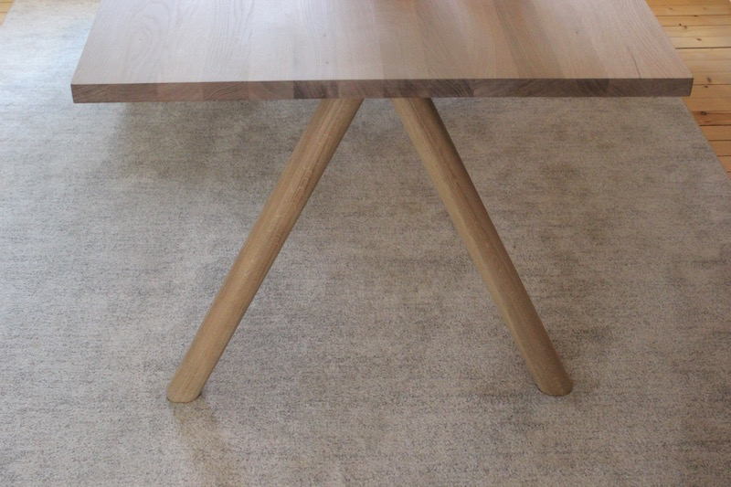 Kontoret har fått nytt bord med runde bein. Det er ingen som bryr seg om det.