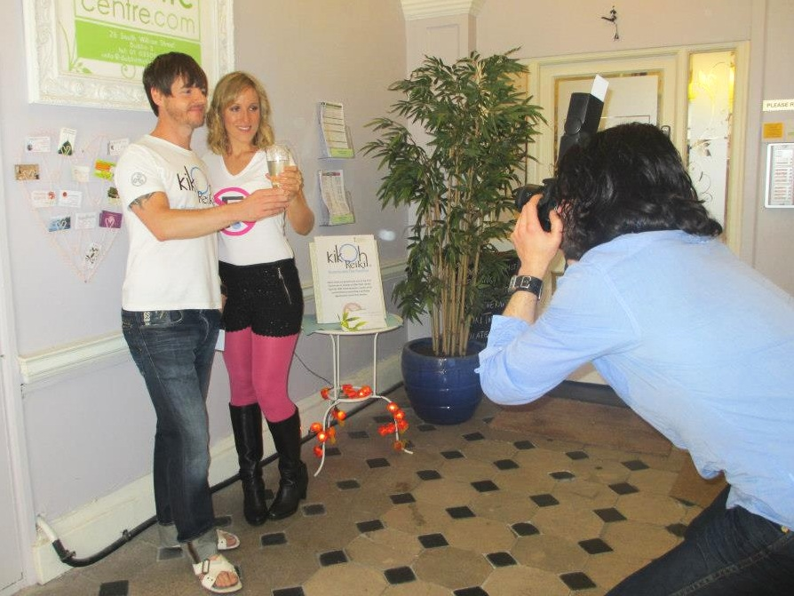 Fluoride free photo shoot at Kikoh Reiki, Dublin Wellness Centre in September 2012