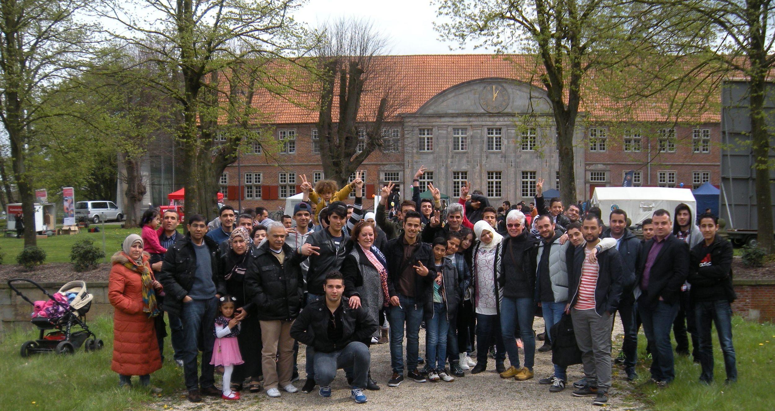 """ein anderer Deutschkurs besucht das Fest """"Karneval der Kulturen""""."""
