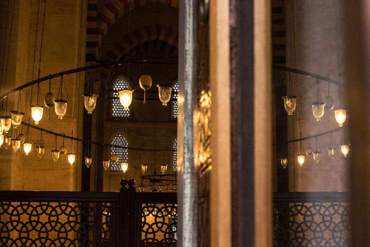 Inside of Süleymaniye mosque.