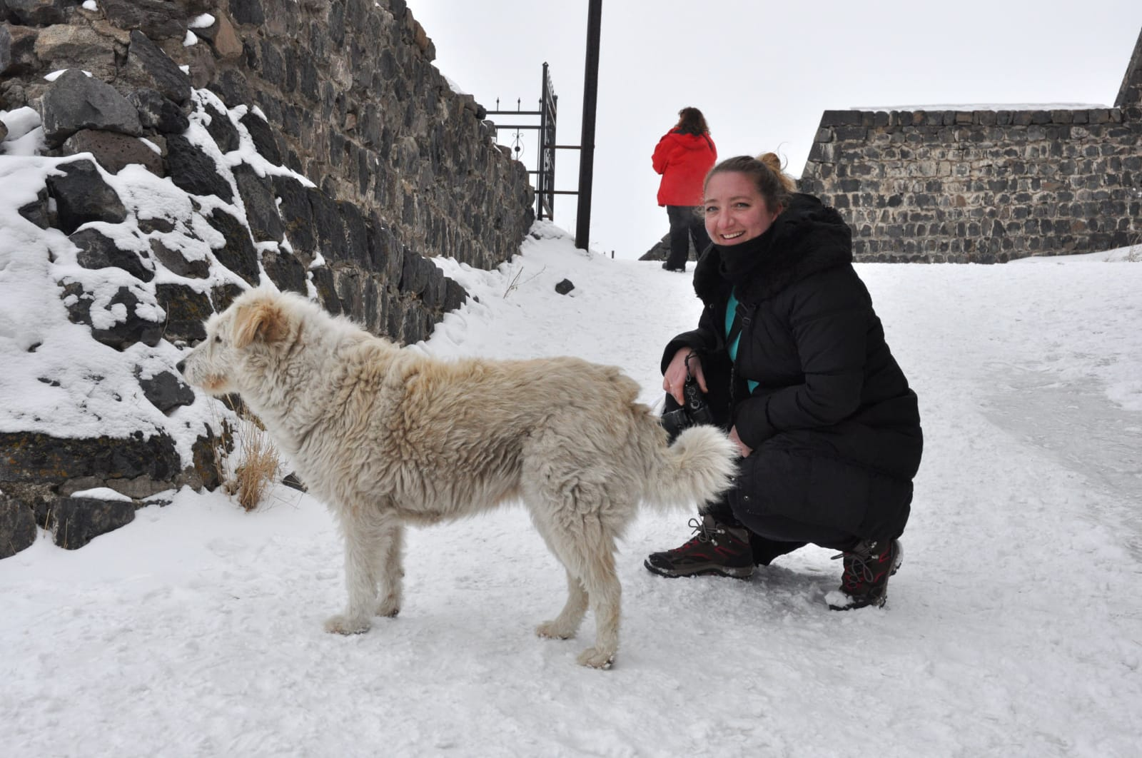 At the top of the Kars Castle