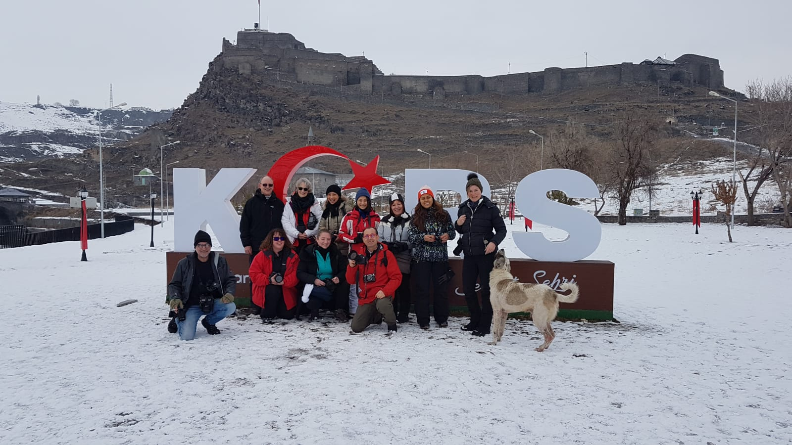 The group in front of Kars castle