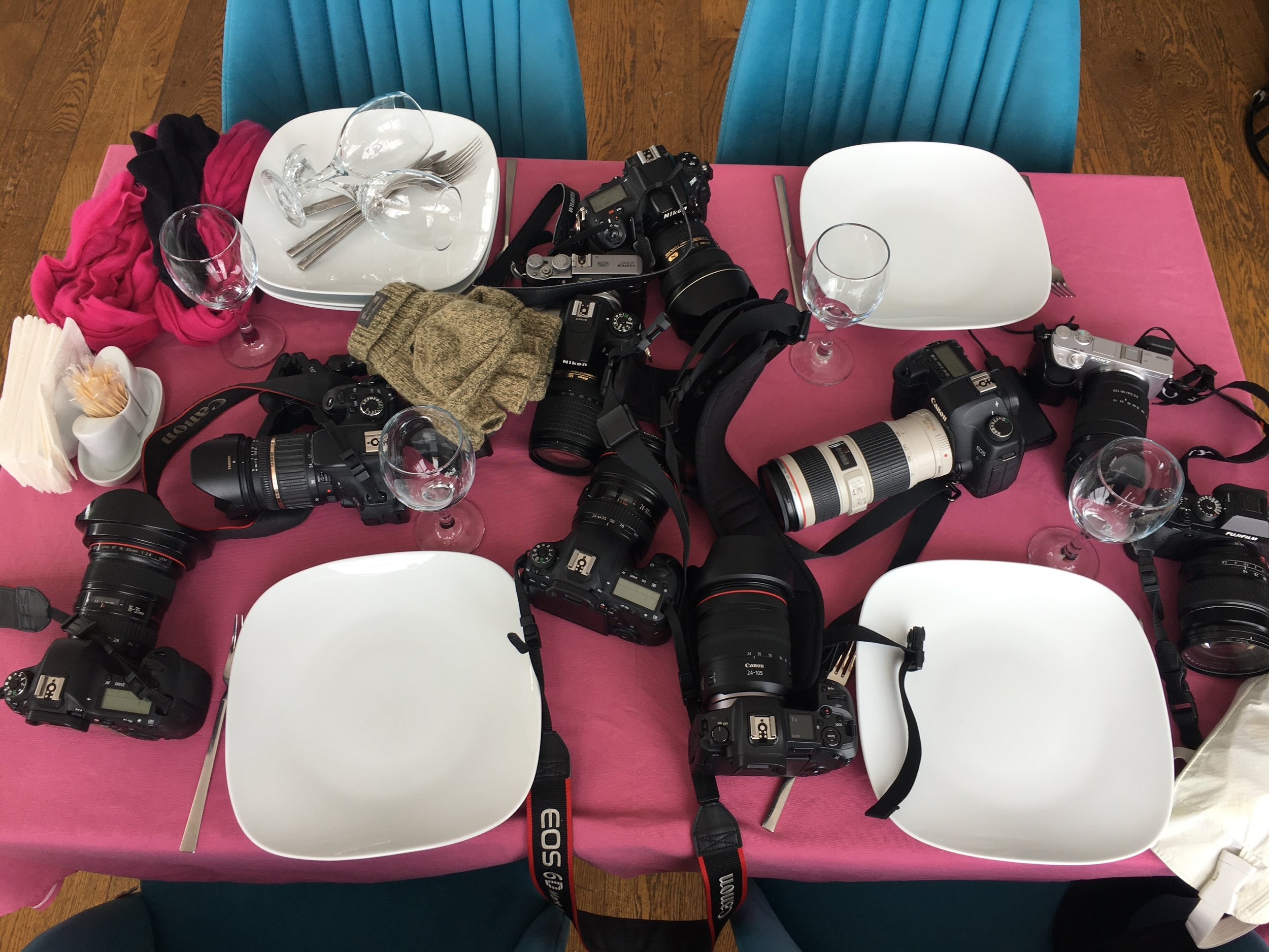 """When photographers have lunch, there's always a """"camera"""" table 😆📸"""