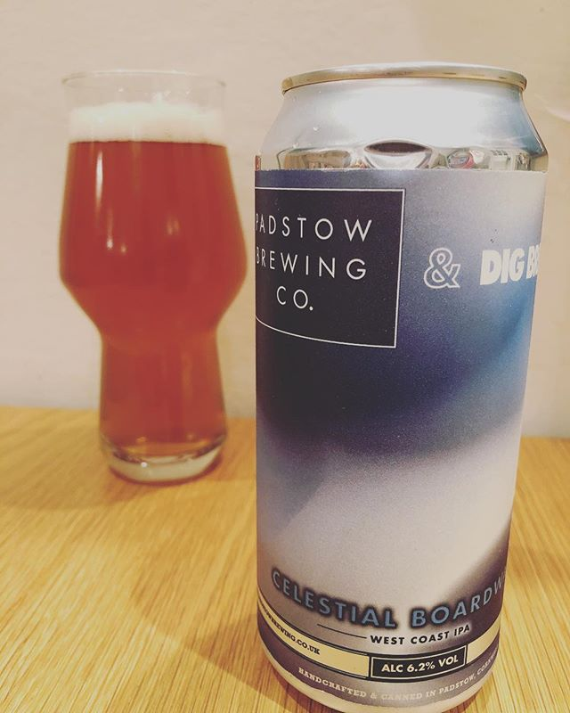 "This tasty number is by @padstowbrewingco & @digbrewco - Celestial Boardwalk 6.2% - Unfiltered, Unfined, Vegan, Vegetarian - A West Coast Style IPA with a deep golden colour, spicy yeast flavours with hop aromas but a strong malty backbone. A limited release that combines great beer with great art, and features the piece ""Shades of Sun"" by artist Clara Jones from Falmouth University 👌🏻👌🏻👌🏻 great work @padstowbrewingco highly recommended you check them out!  #CraftBeer #CraftyBeer #Craftbeers #LoveBeer #LoveCraftBeer #DrinkBeer #BeerGeek #BeerNerd #BeerGuide #DrinkBeer #CraftNotCrap #HopHead #Hops #MoreHops #LoveHops #Beerstagtam #CraftBeerNotCrapBeer #BrewPix #RateBeer #BeerReview #BeerSnob #CraftBeerSnob #Beer #InstaBeer #InstagramBeers #CraftBeerJunkie #CheersGuys #Brewtography #Bier #apintofpadstow"
