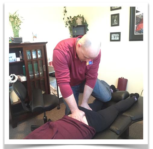 The author treating the bursa of the biceps femoris
