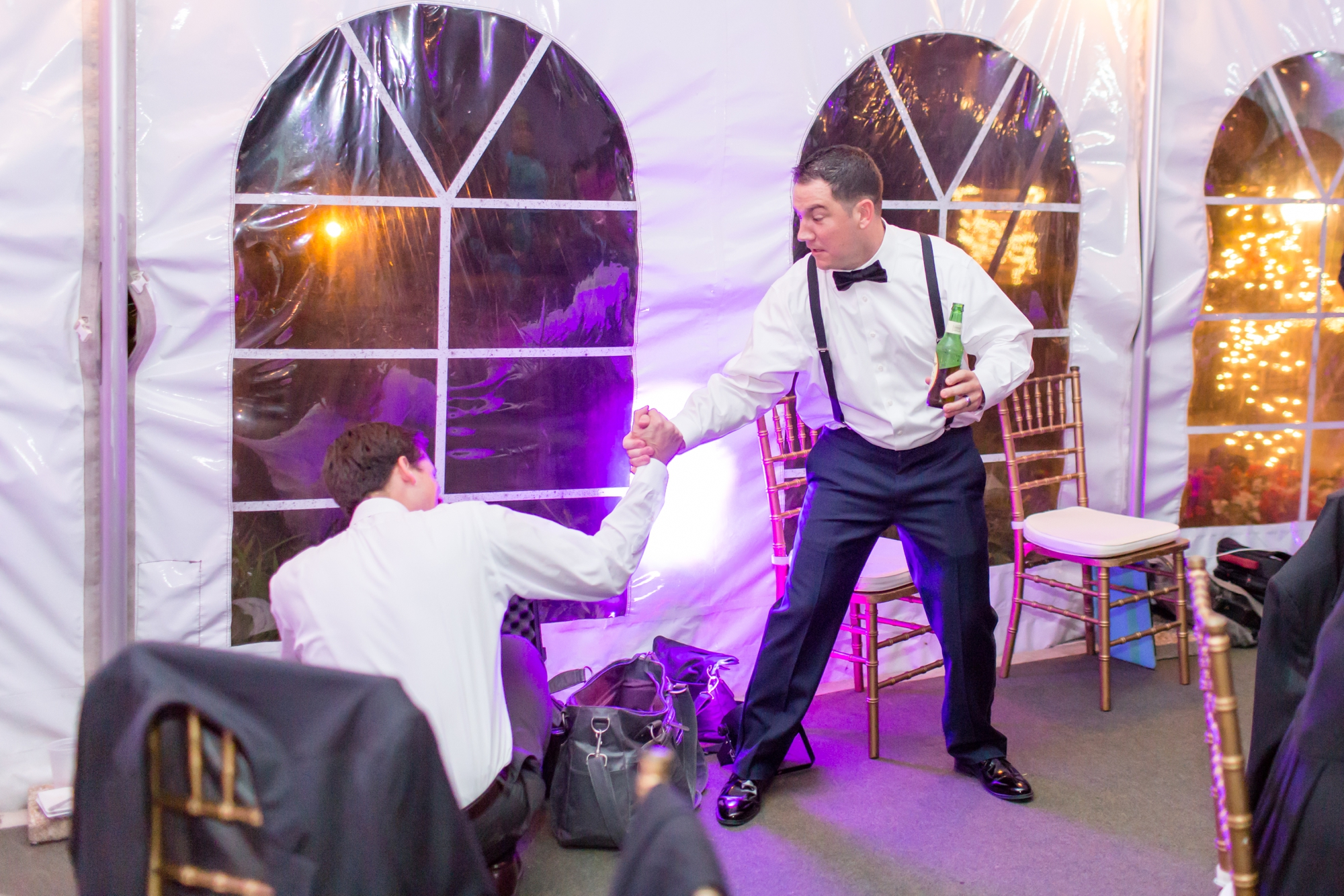 "This groomsmen kept calling Kevin ""Kevin Bacon"" during the whole wedding and it was hilarious!"